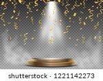 round podium  pedestal or... | Shutterstock .eps vector #1221142273