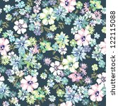 beautiful ditsy floral seamless ... | Shutterstock .eps vector #122115088