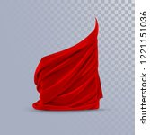 red silky fabric. decoration... | Shutterstock .eps vector #1221151036