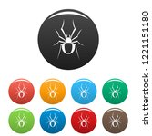 black house spider icons set 9... | Shutterstock .eps vector #1221151180