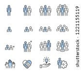 people icons line work group... | Shutterstock .eps vector #1221155119