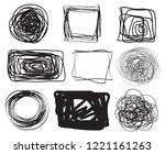 hand drawn lines on isolated...   Shutterstock .eps vector #1221161263
