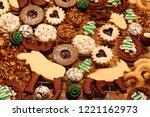 christmas bakery. various...   Shutterstock . vector #1221162973