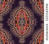 indian ornament. vector... | Shutterstock .eps vector #1221165346