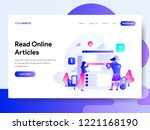 landing page template of read...