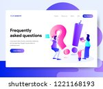 landing page template of... | Shutterstock .eps vector #1221168193