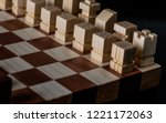 picture of a wooden chess   Shutterstock . vector #1221172063