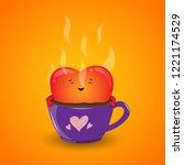 vector illustration of a red... | Shutterstock .eps vector #1221174529