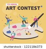 art contest promotion poster... | Shutterstock .eps vector #1221186373