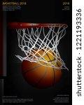 basketball poster advertising... | Shutterstock .eps vector #1221193336