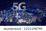 5g network mobile data... | Shutterstock . vector #1221198790