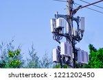 micro cellular 3g  4g  5g. base ... | Shutterstock . vector #1221202450