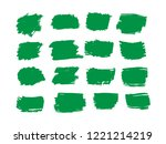 100  organic  bio  eco  natural ... | Shutterstock .eps vector #1221214219
