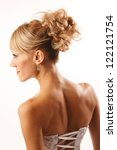brides hairstyle shooted from... | Shutterstock . vector #122121754