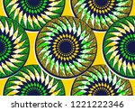 textile fashion  african print... | Shutterstock .eps vector #1221222346