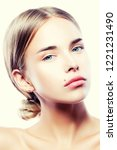 close up beauty face of young... | Shutterstock . vector #1221231490