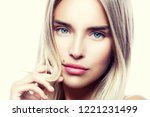 close up portrait of a young... | Shutterstock . vector #1221231499