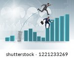 businessman outperforming his...   Shutterstock . vector #1221233269