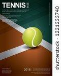 tennis championship poster...   Shutterstock .eps vector #1221233740