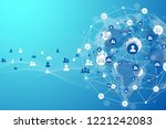global structure networking and ... | Shutterstock .eps vector #1221242083
