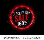black friday sale background...   Shutterstock .eps vector #1221243226