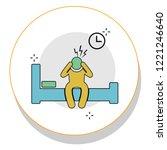 headache critical icon  | Shutterstock .eps vector #1221246640