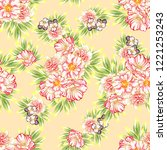 abstract seamless pattern with... | Shutterstock . vector #1221253243