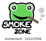 smoke zone | Shutterstock .eps vector #122125546
