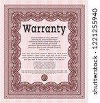 red retro vintage warranty... | Shutterstock .eps vector #1221255940