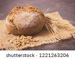 fresh baked wholegrain rolls... | Shutterstock . vector #1221263206