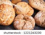 fresh baked homemade wholegrain ... | Shutterstock . vector #1221263230