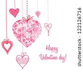 valentine's day card | Shutterstock .eps vector #122126716
