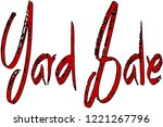 yard sale text sign... | Shutterstock .eps vector #1221267796