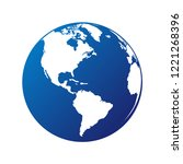 vector circle globe the world... | Shutterstock .eps vector #1221268396