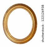 Oval Gold Picture Frame....