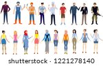 vector   peoples man and woman  ... | Shutterstock .eps vector #1221278140