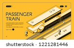 passenger train isometric... | Shutterstock .eps vector #1221281446