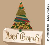christmas and new year  vector... | Shutterstock .eps vector #1221296599