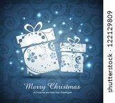vector artistic merry christmas ... | Shutterstock .eps vector #122129809