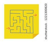 square maze. game for kids.... | Shutterstock .eps vector #1221300820