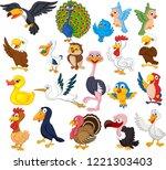 cartoon bird collection set   Shutterstock . vector #1221303403