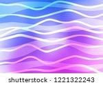 light pink  blue vector pattern ... | Shutterstock .eps vector #1221322243