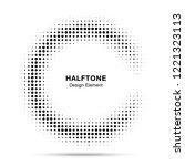 halftone circular frame...   Shutterstock . vector #1221323113