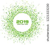 new year 2019 card background....   Shutterstock . vector #1221323230