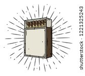 Match Box. Vector Illustration...