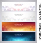 set of vector banners and... | Shutterstock .eps vector #1221325903