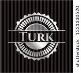 turk silvery emblem or badge | Shutterstock .eps vector #1221330520