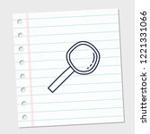 design image icon magnifier...   Shutterstock .eps vector #1221331066
