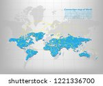 modern of world map connections ... | Shutterstock .eps vector #1221336700