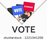 voter support  people with... | Shutterstock .eps vector #1221341200
